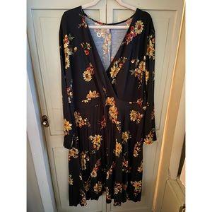 ASOS curve floral midi dress size US 24 NWT